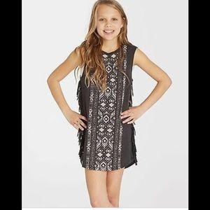 Billabong Dresses - Billabong Salty Tides Girls Fringe Dress XS 5-6
